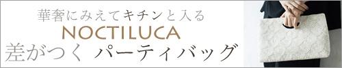 【 NOCTILUCA / ノクチルカ 】華奢にみえてキチンと入る 差がつく パーティバッグ