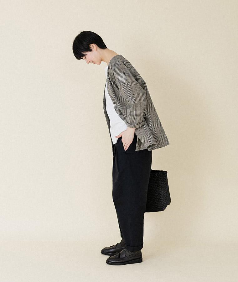 【Lintu Laulu】2タックゆったりチノパンツ(B・ダークネイビー)/