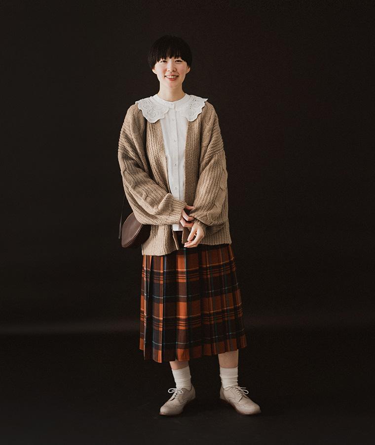 【Lintu Laulu】スカラップレース襟コットンブラウス(A・ホワイト)