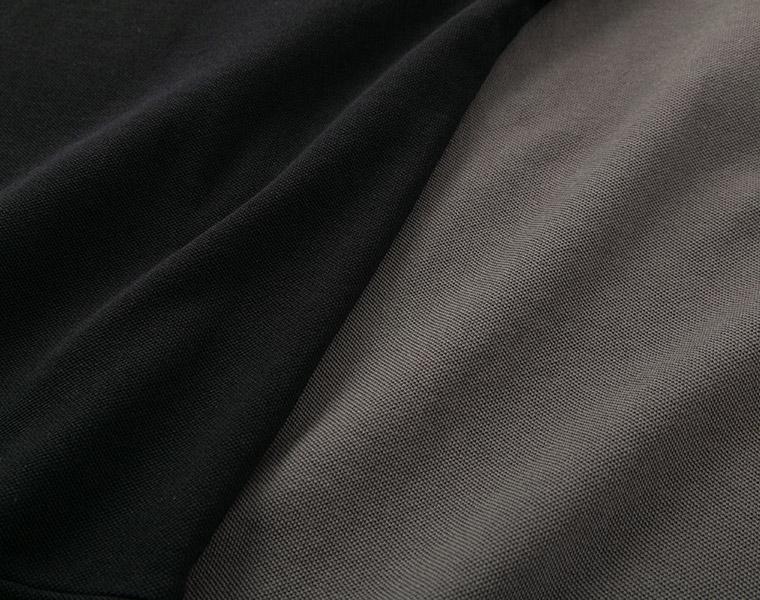 生地アップ:【Lintu Laulu】ビンテージ加工鹿の子ふんわりワンピース /【Lintu Laulu】ビンテージ加工鹿の子ポロ衿ビッグシルエットプルオーバー