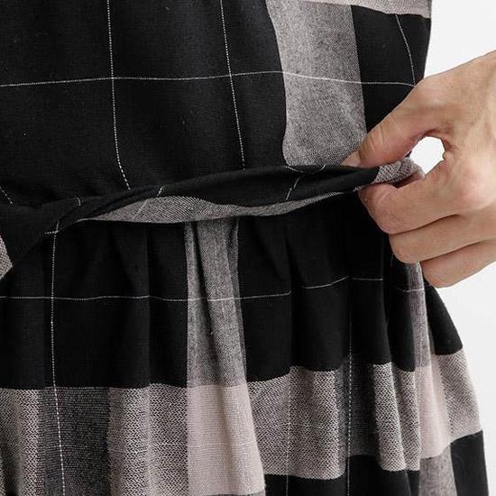 &yarn 3Wayチェックワンピース ブラック 詳細