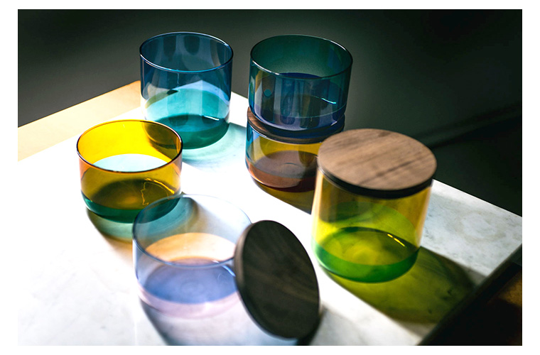 9°  amabro ニューヨーク現代美術館 MOMA DESIGN STORE TWO TONE GLASS キャニスター スタッキング