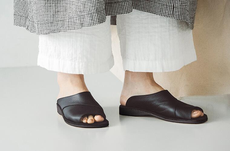 サンダル 素足でも履ける 夏サンダル ナチュラン限定 ナチュラン別注 レザーサンダル ナチュラン coon