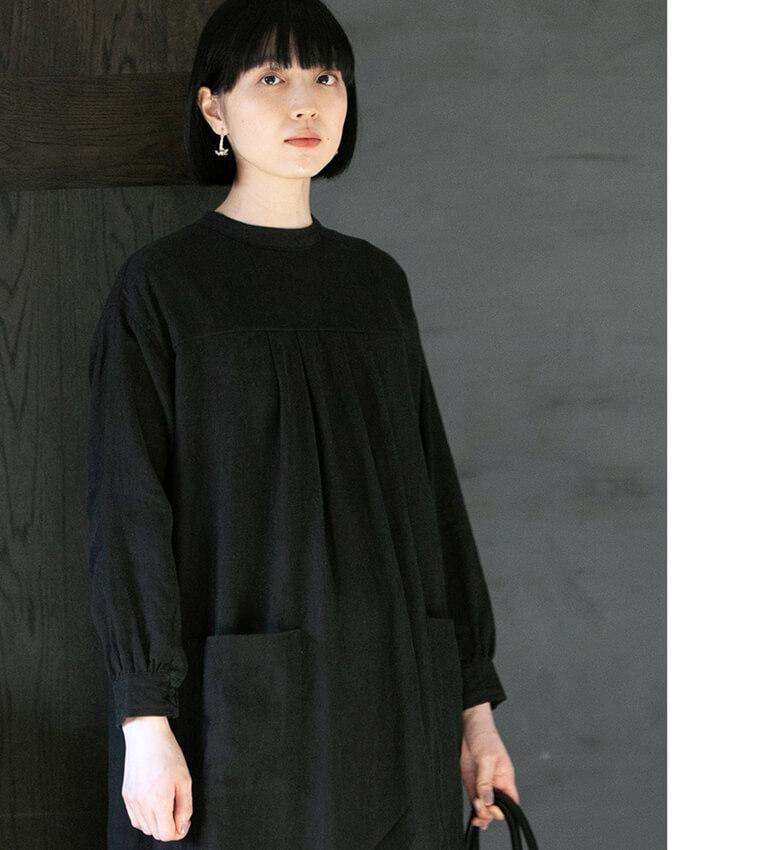 2WAYデザインのリネン起毛サージカルドレス