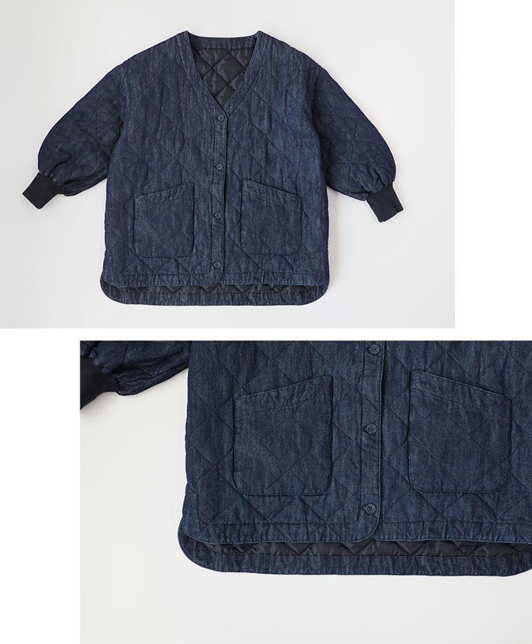 【 Lintu Laulu 】デニムキルティングジャケット