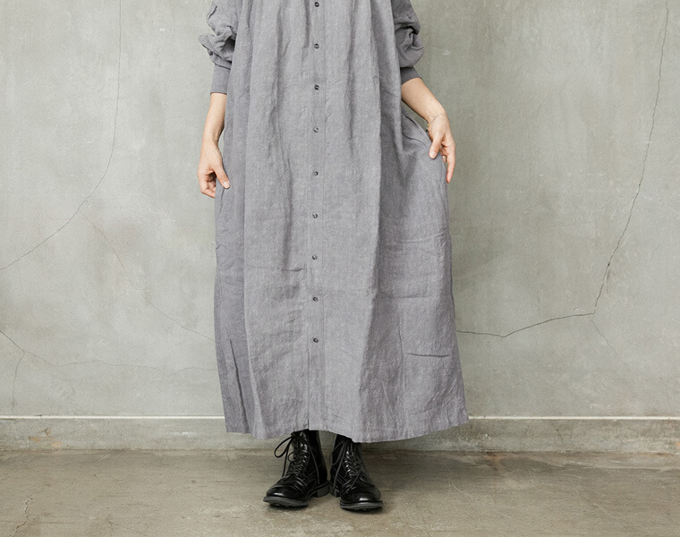 DYEDギャザードレス