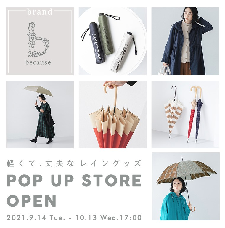 because pop up store open