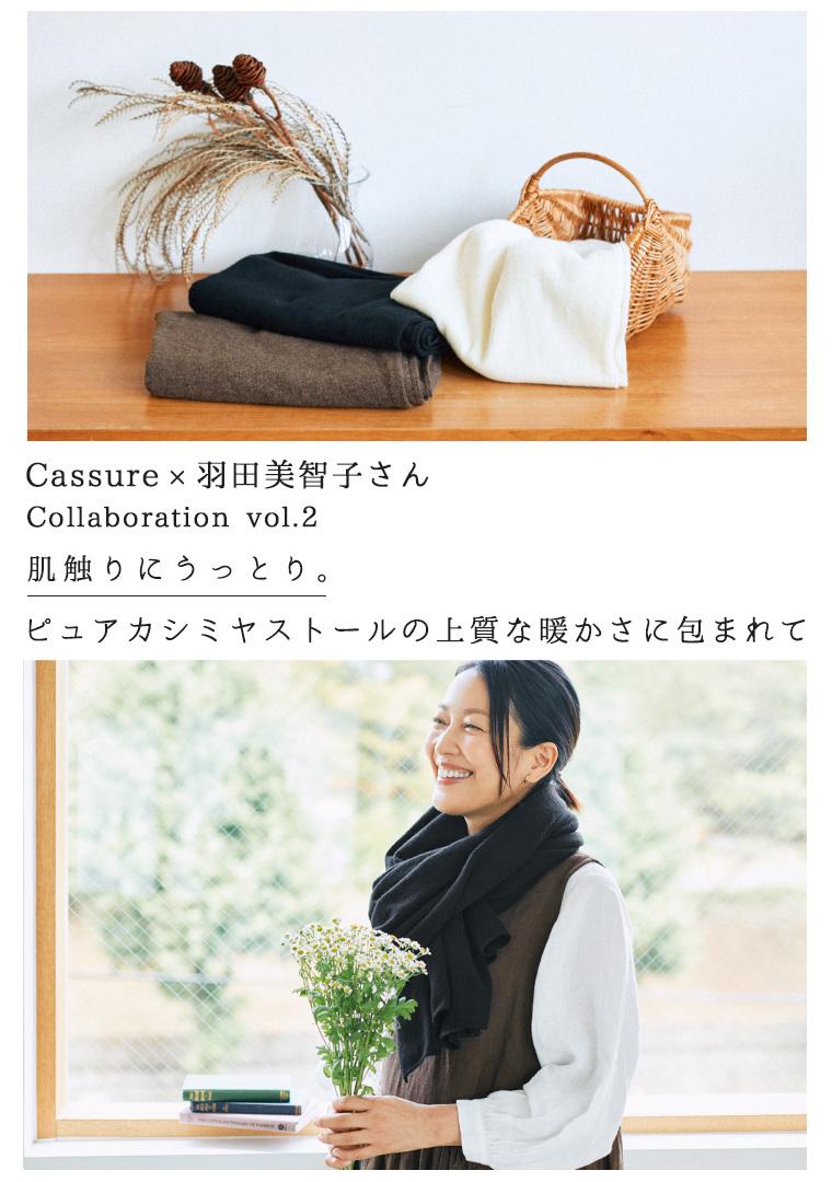 Cassure カシュール 羽田美智子 ナチュラン コラボレーション ピュアカシミヤストール カシミヤのストール