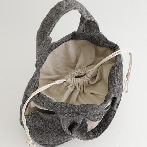 TOMOO(トモオ)/【新作】葉の影をイメージしたバッグ 巾着部分のアップ