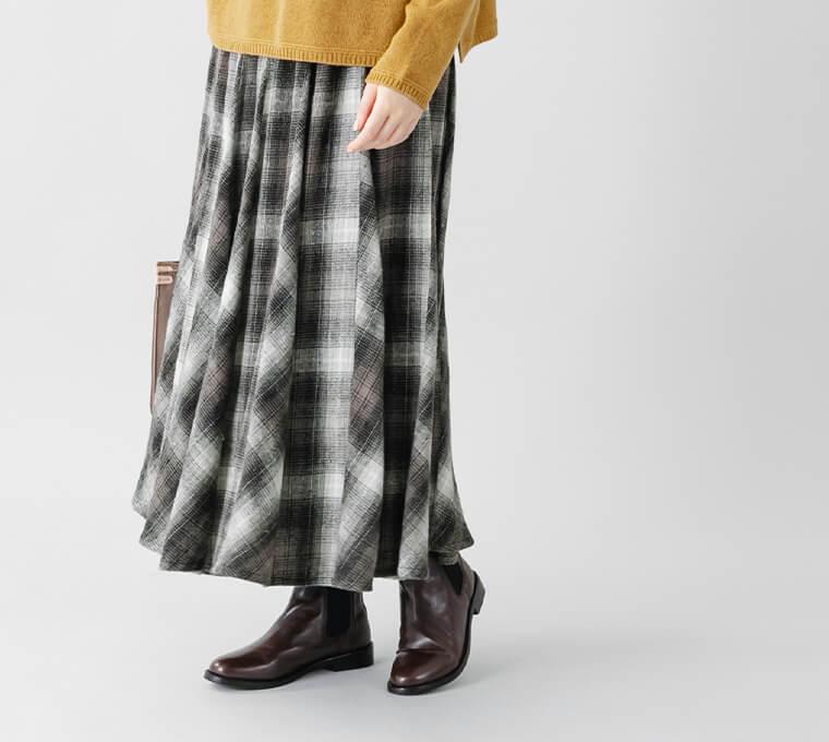 ネルチェック パネルスカート